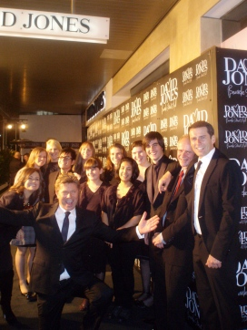"MSE at the New David Jones Store launch, Bourke St. Melbourne with members of Channel 9's ""Today Show"""